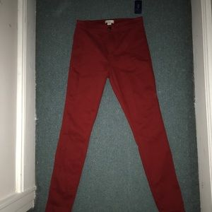 Red pants. Never worn.